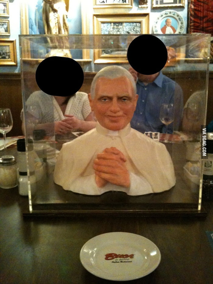 Try to eat with this guy staring at you all night.