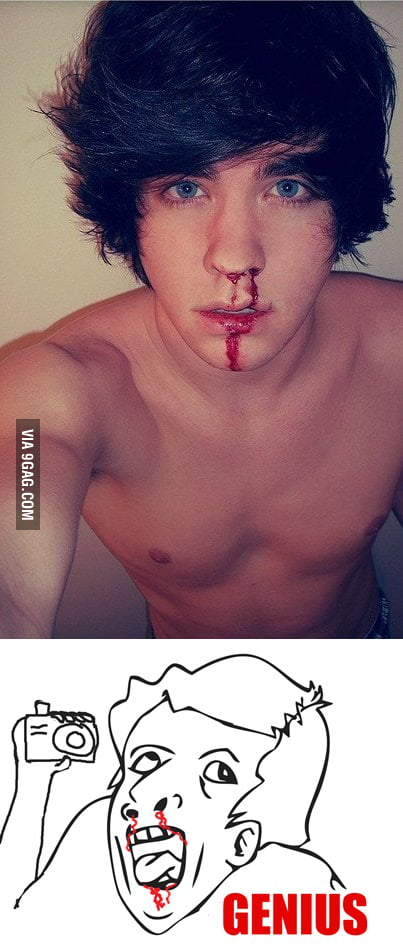Because now taking a picture while crying is too mainstream.