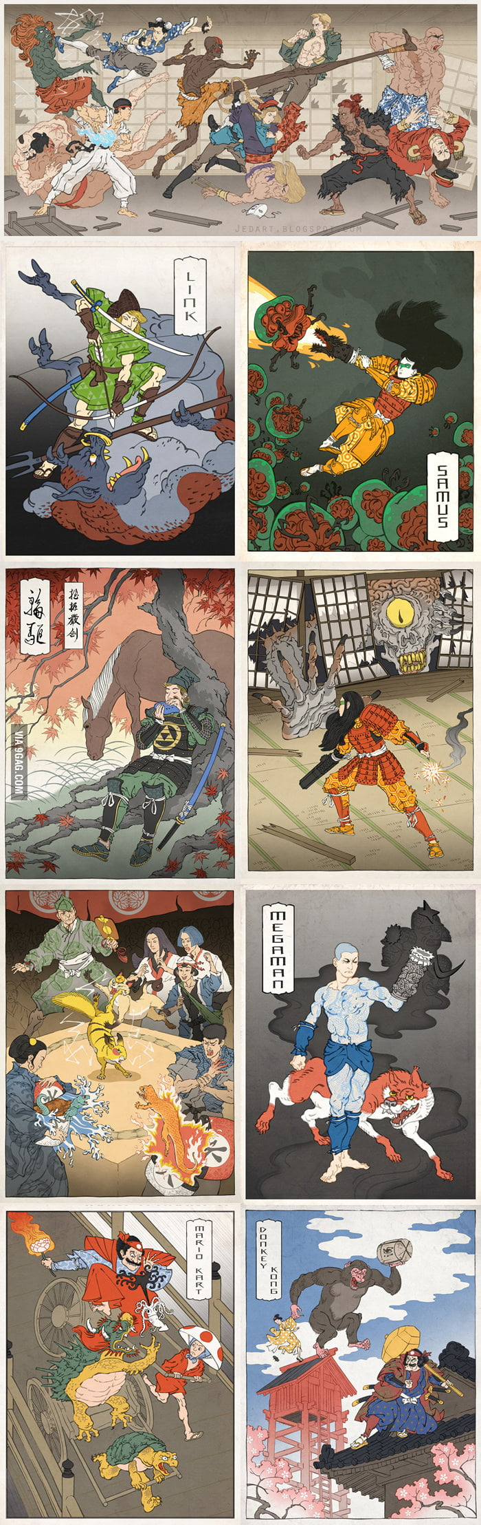 Games in Japanese Painting Style