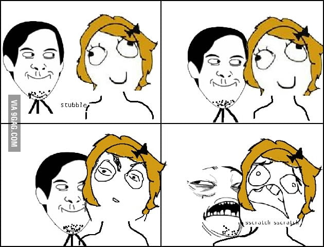 Sometimes I grow stubble just so I can do this to my gf