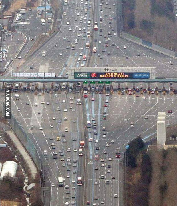 Toll gate illusion