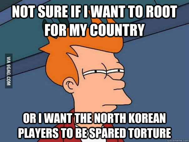 Watching the USA vs North Korea soccer game