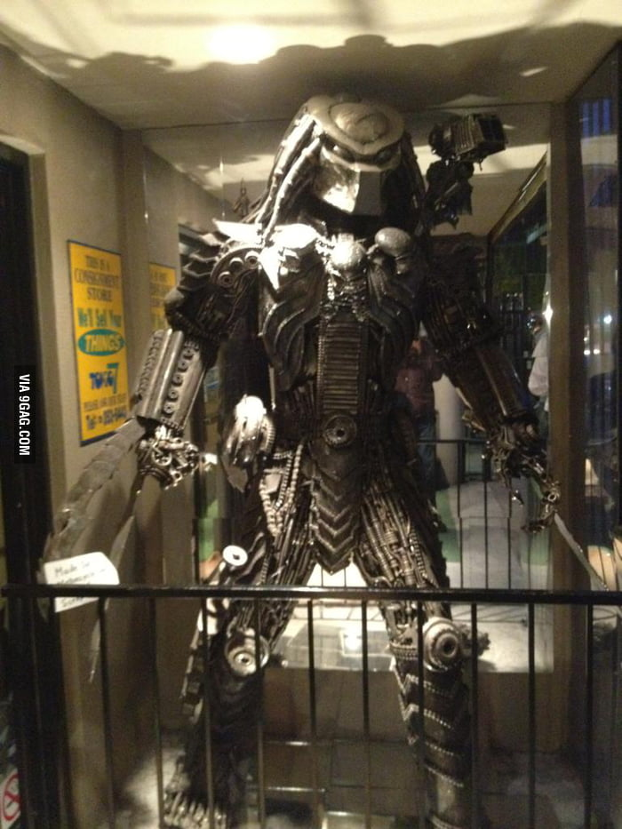 Made entirely of used motorcycle parts