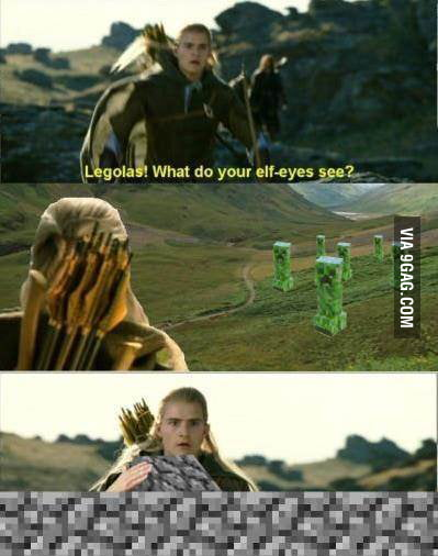 Legolas! What do your elf-eyes see?