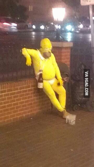 My friend met a drunk Homer Simpson in Vegas