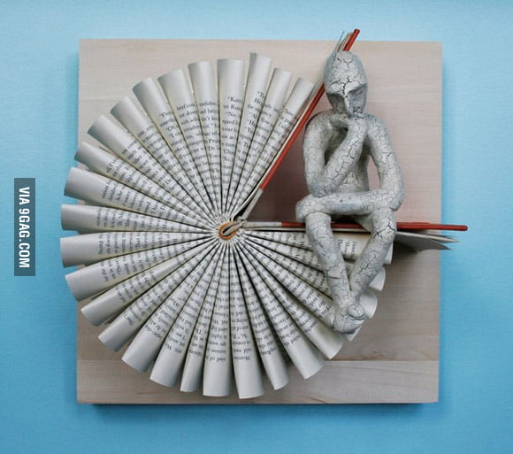 Book Sculptures of the Thinker