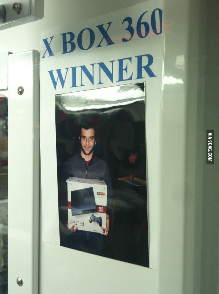 Winner of a Xbox 360... wait...