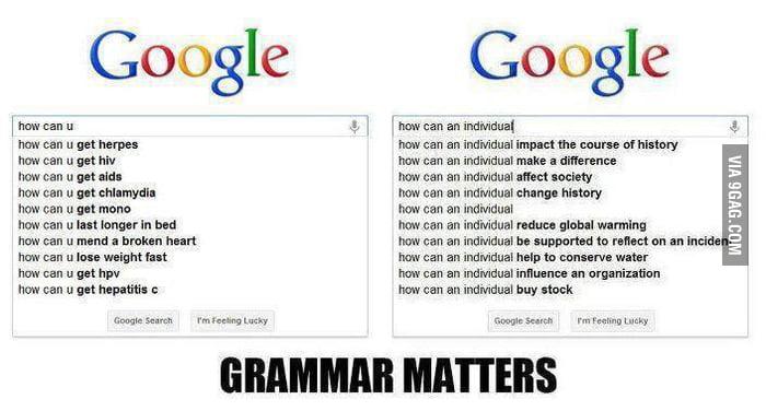 Grammar matters!