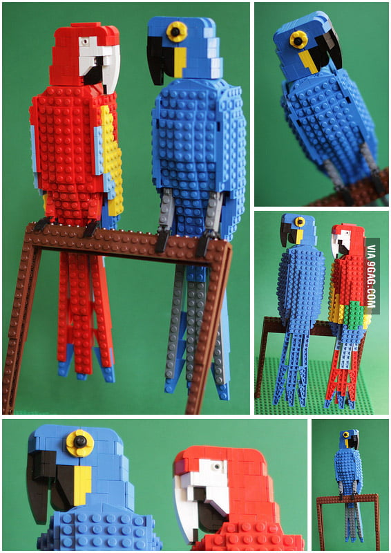 Tropical LEGO Birds