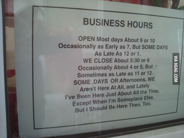 Boss opening hours