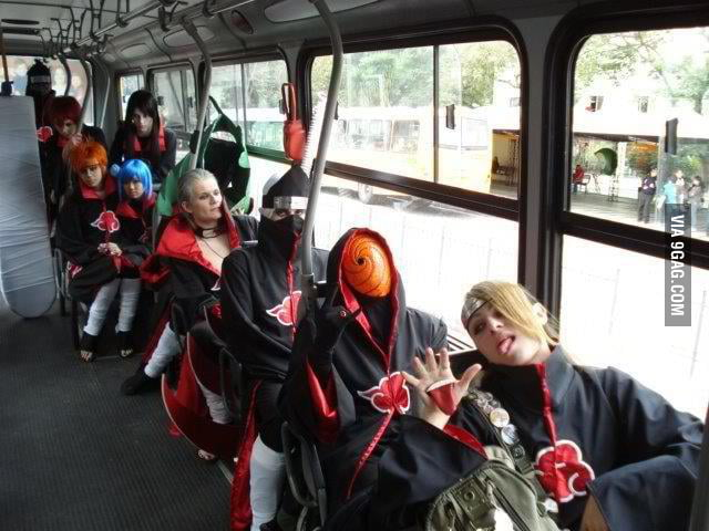 Look who are in the bus!