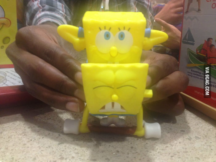 Just putting 2 Spongebob toys together...