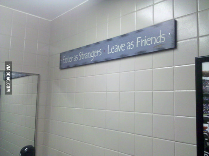 What I see in a public toilet...
