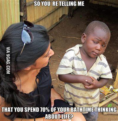 Third world kid strikes again