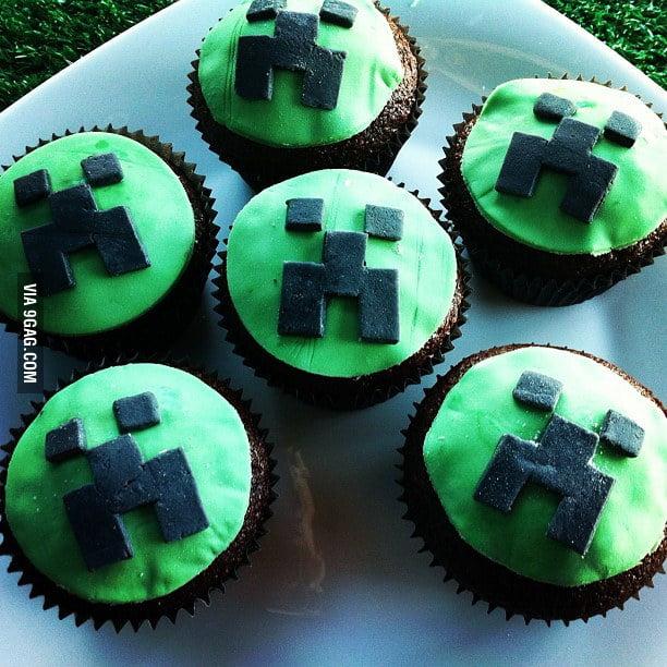 Minecraft Cupcake