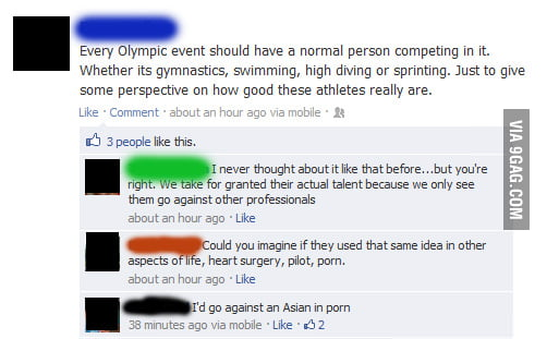 I liked my friend's idea for the Olympics