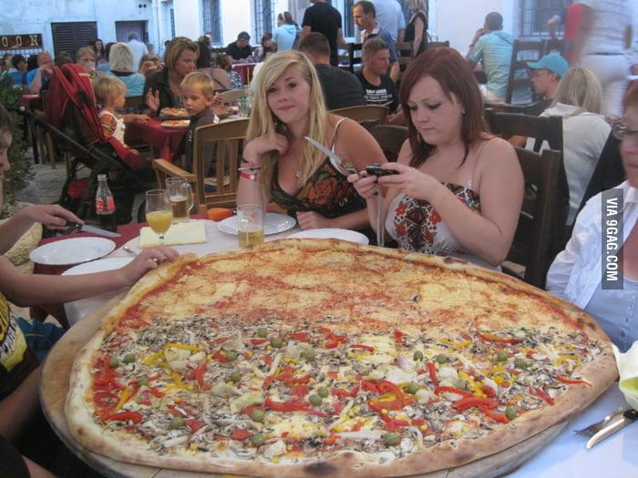 Just a pizza in Croatia