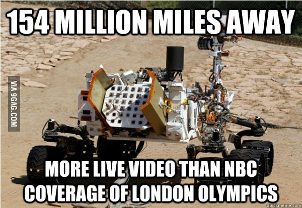 Good Guy Mars Curiosity Rover knows the world is watching