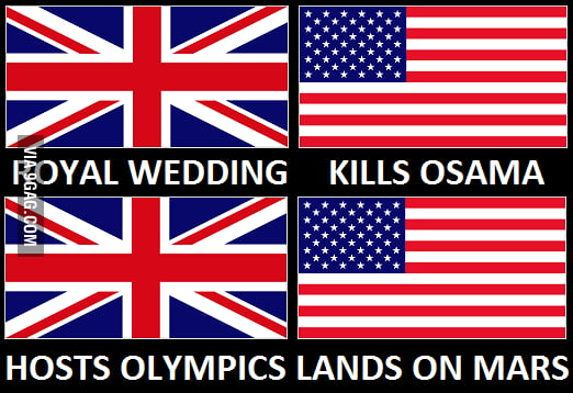 The US always steals the spotlight from the UK