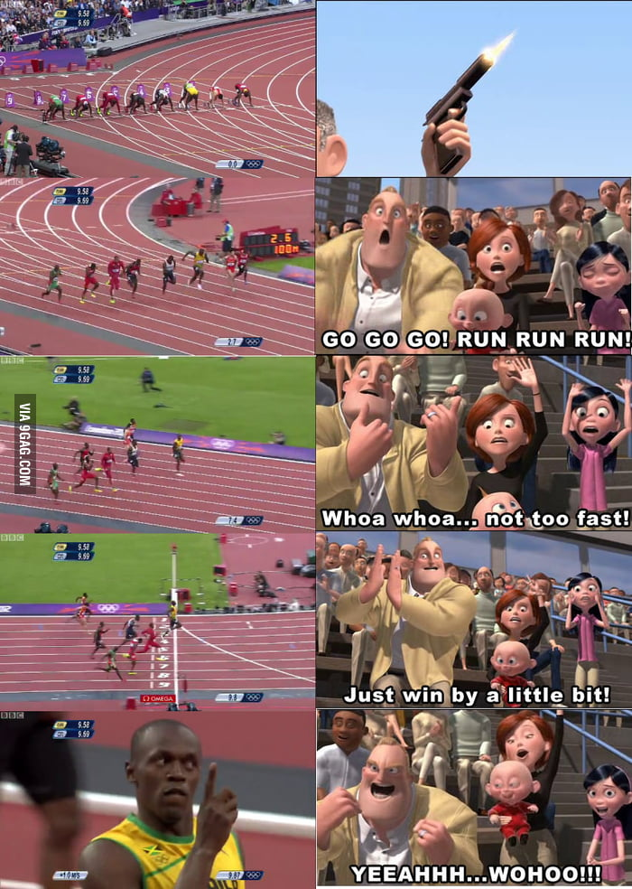 Every time I see Usain Bolt race, I can't help but imagine t