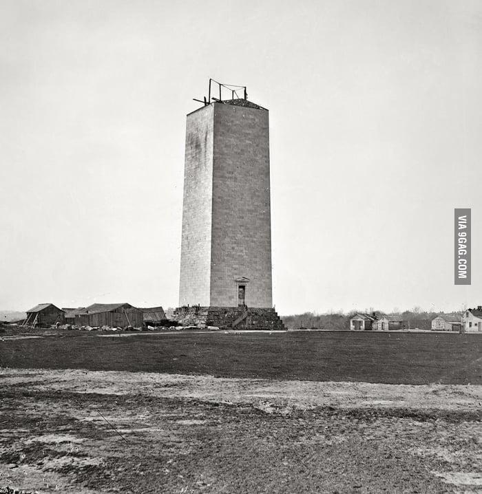 Washington Monument in 1860.