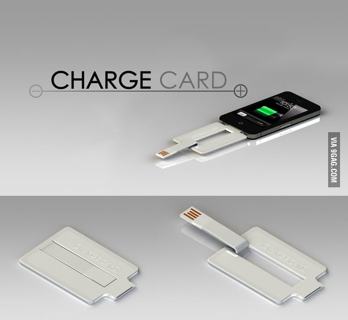 No more cables when you have ChargeCard!
