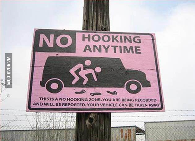 No Hooking Zone