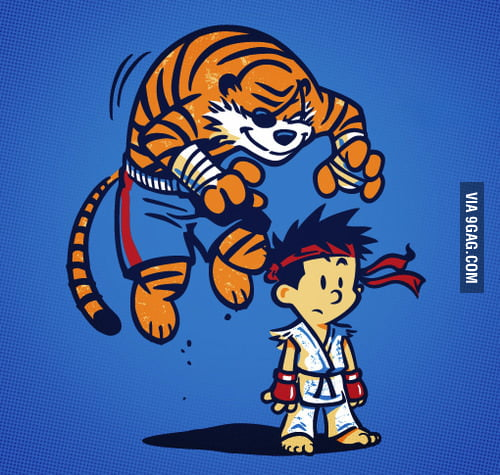 Calvin and Hobbes as Street Fighters!