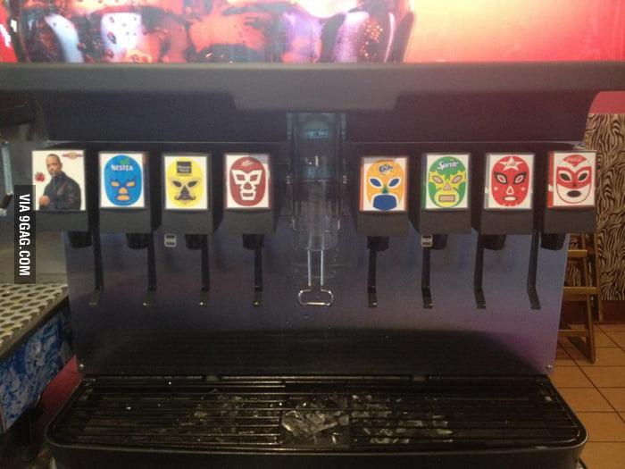 The soda machine at a local Taco Shop