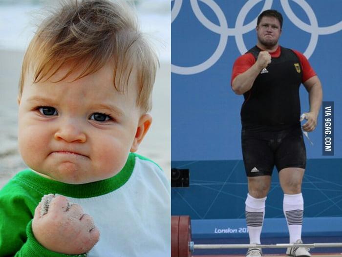 Success kid has grown up