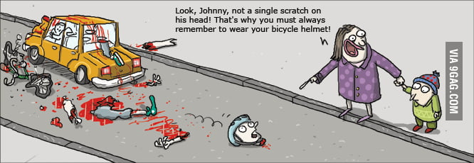 Never forget your Bike Helmet, Jimmy!