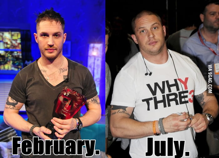 Tom Hardy's transformation for his role in Batman