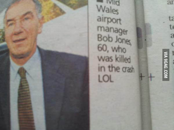 This Guy Was Killed in a Crash LOL