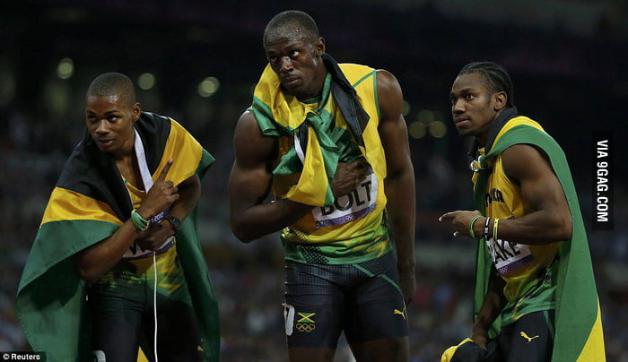 Jamaica rules! 1st, 2nd and 3rd!