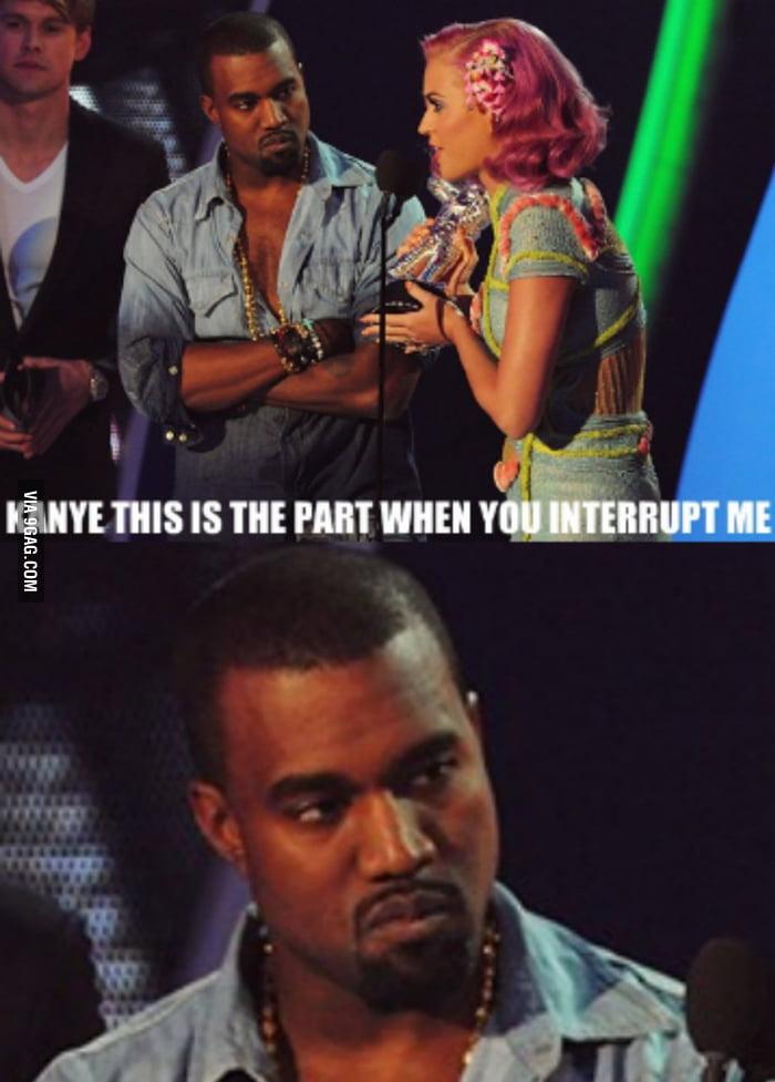 Kanye is not amused...