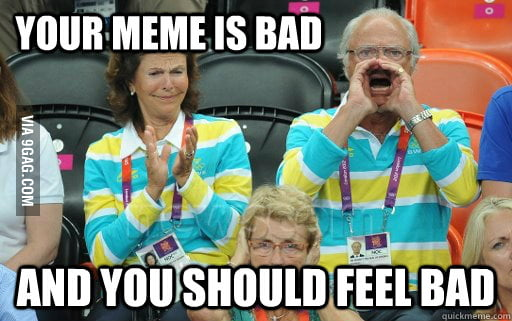 The King of Sweden makes his opinion known!