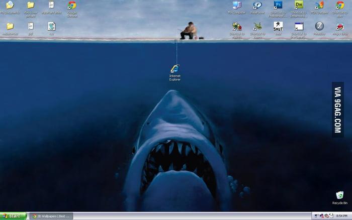 Fishing on the desktop