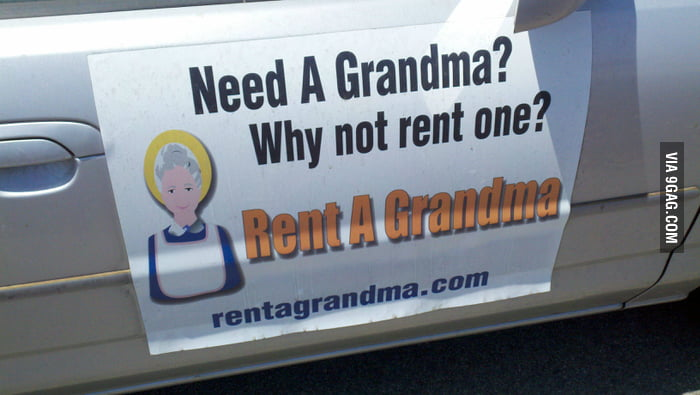 Need a grandma? Why not rent one?
