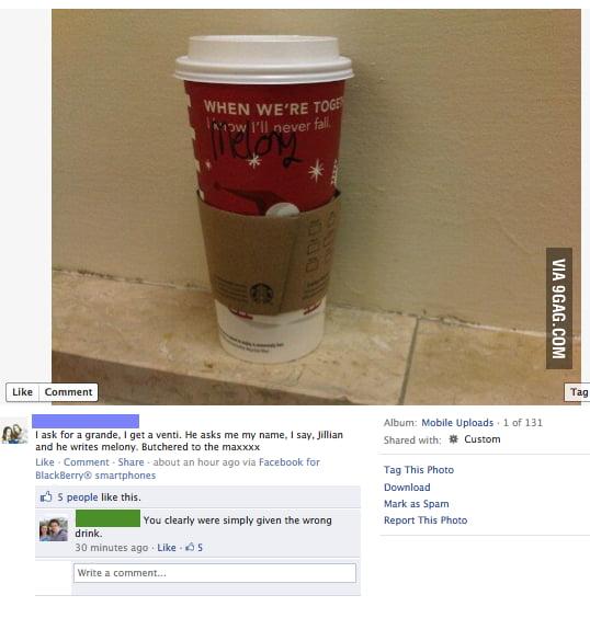Stupidity at Starbucks...