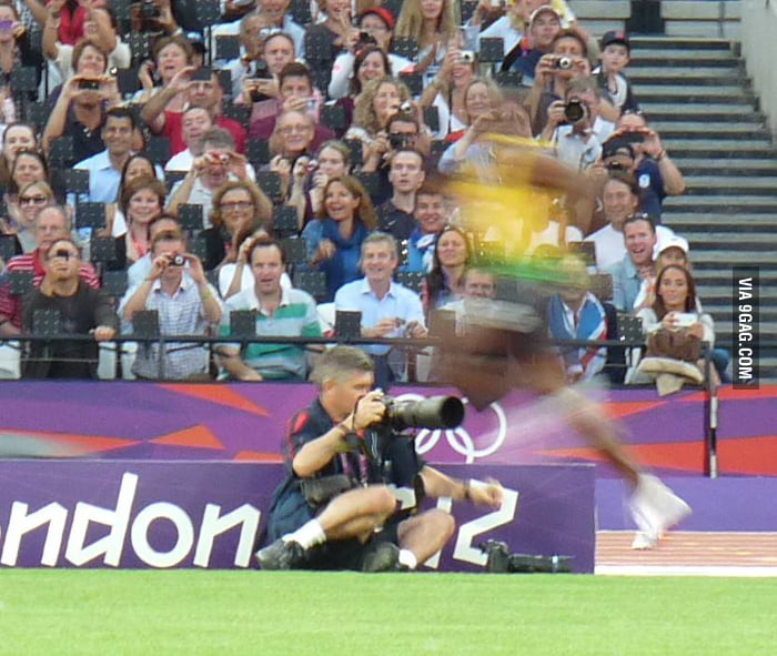 My photo of Bolt...