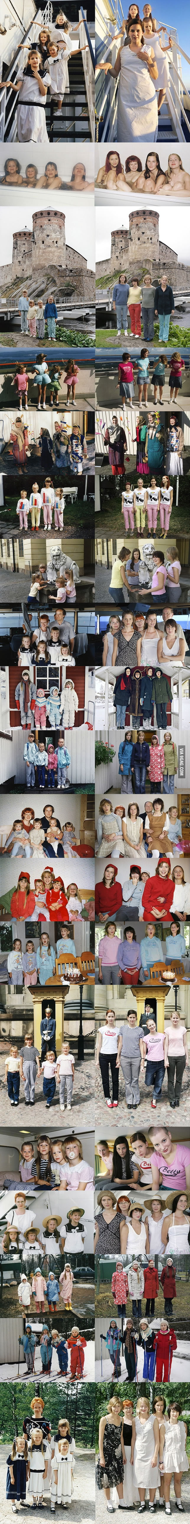 Four Sisters Recreating Their Childhood Photos