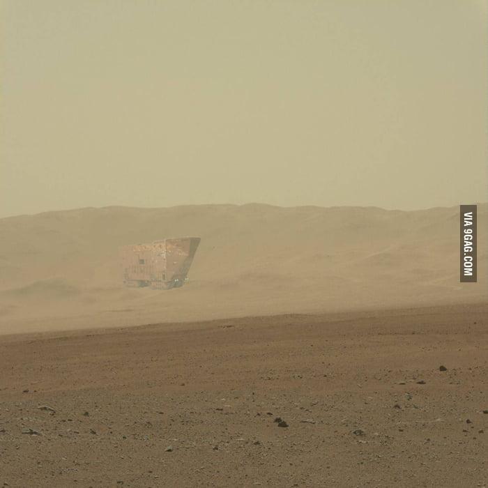 Curiosity Rover spots intelligent life on Mars.