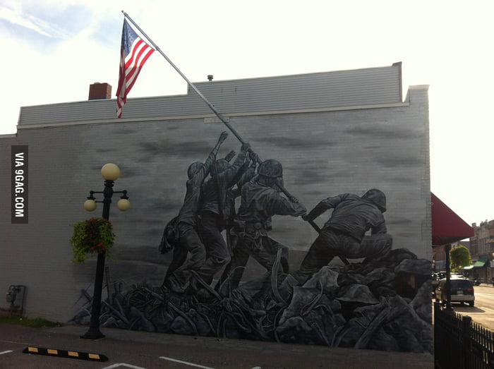 I'm not an American but I think this mural is awesome.