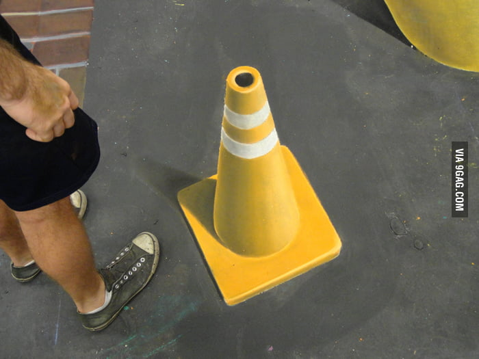 3D road cone