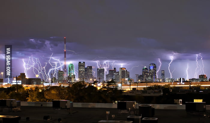 How the storm in Dallas looked tonight.