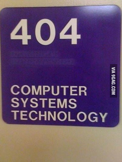 My computer lab at my school is literally 404.