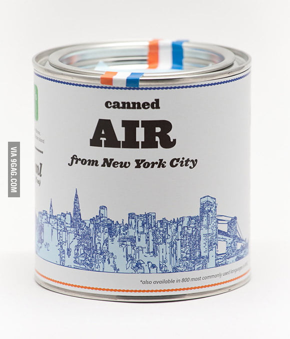 Canned Air From Your Favorite City