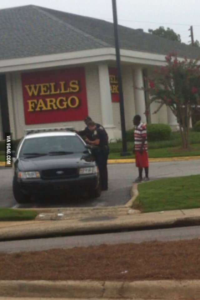 """Cops locked out of their cruiser. """"Officiers, need any help?"""