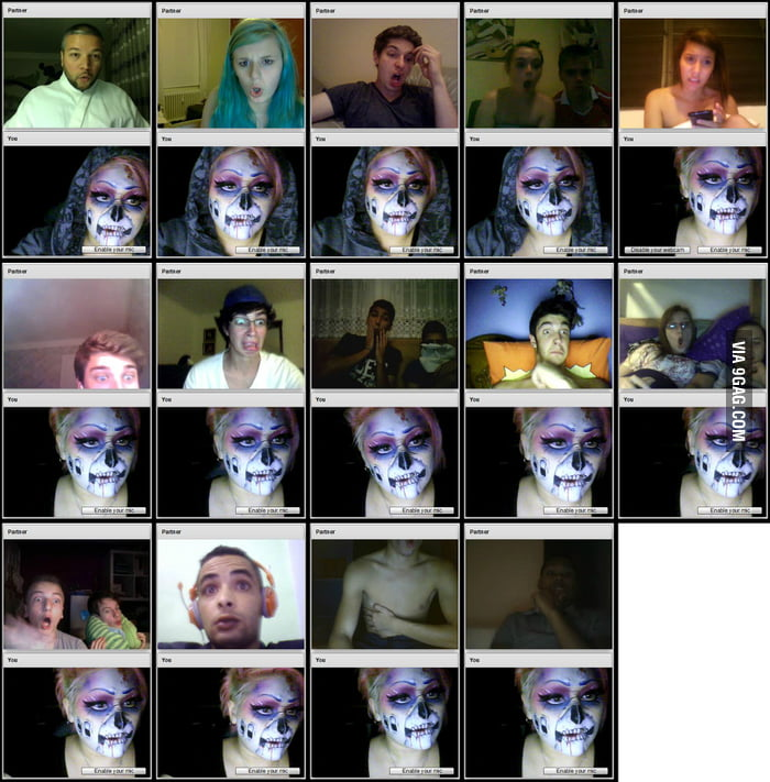 Trolling Chatroulette with crazy makeup