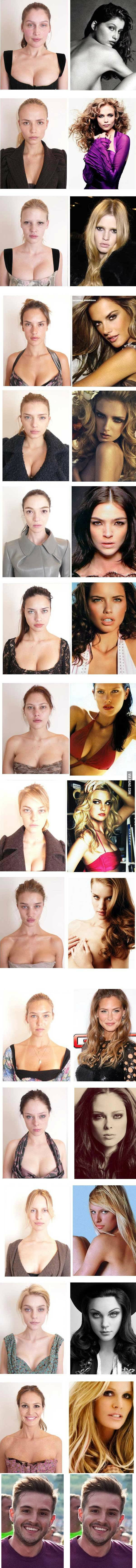Some hot models without make up